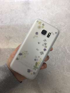 Lavender/white/clear Samsung Galaxy S7 Case