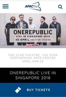 TWO ONEREPUBLIC CONCERT IN SINGAPORE