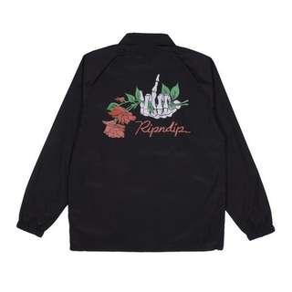 RIPNDIP Dead Rose Black Coaches Jacket