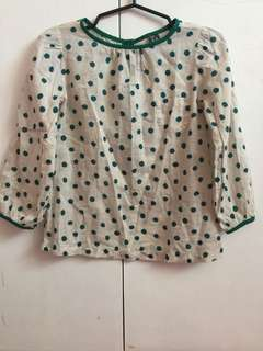 Zara Girls Longsleeves 5-6yo