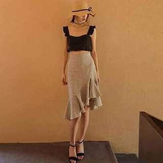 💰390 🌸Terno (Smocked Top+Skirt) 💕1Colors 💕Size:S-Semi Lcan Fir 💕Chiffon Top ✴yfo