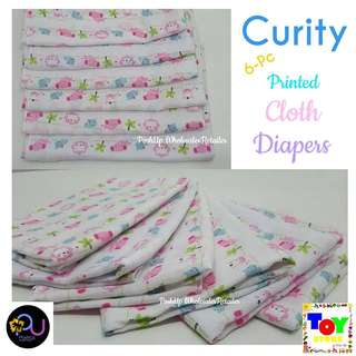 6PC Curity Birdseye Cloth Diaper
