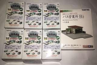 Tomytec Diorama Buildings set of 7 N-Gauge 1/150