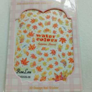 Nail art stickers (autumn leaves)