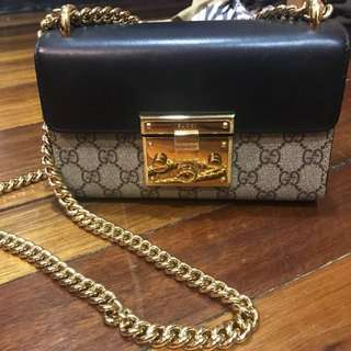 Gucci Classic Small Padlock with Black Leather