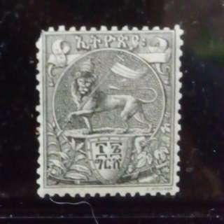 [lapyip1230] 埃塞俄比亞帝國-首款郵票 1894年