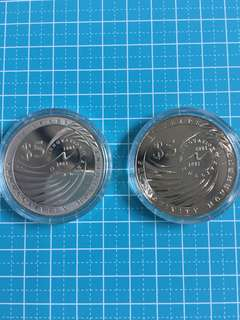 🔥Clearance🔥Singapore Silver & Nickel 2-1 set $5 Year 2001