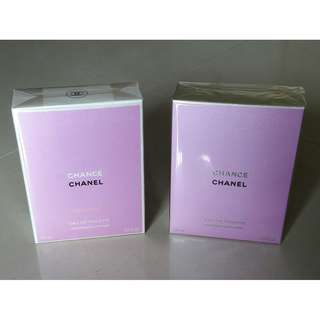 2 for $260! Chanel Chance Eau Vive & Vaporisateur Spray