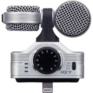Zoom iQ7 Mid-Side Stereo Microphone for iOS Devices with Lightning Connector