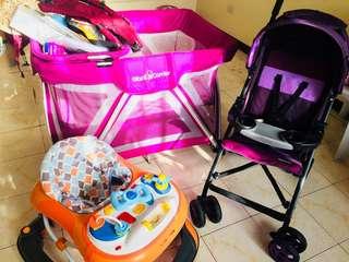 Baby crib and stuffs