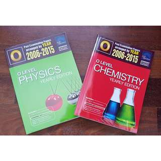 (TALC WRAPPED!) Yearly Ten Year Series (TYS) Core Chemistry and Physics books of 2006 to 2015