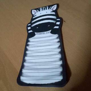 Zebra Shopping Pad