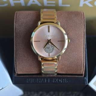 Michael Kors Portia Pave Two-Tone Watch (MK3706)