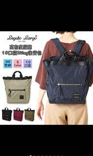 🚚 日本多口袋夾層後背包(媽媽包也適用)