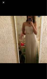 asos cream beach tube dress
