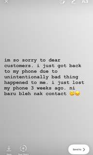IM SORRY DEAR CUSTOMERS :/