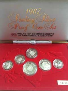 🔥Clearance🔥Singapore Silver Proof Coin Set 1 Cent To $1 year 1987