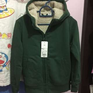 UNIQLO Kids Pile Lined Sweat Long Sleeve [GREEN]