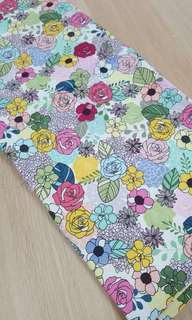 Beautiful floral print cotton 1 Yard fabric