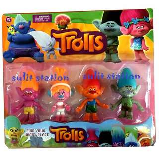 TROLLS TOY FIGURES CAKE TOPPER