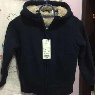 UNIQLO Kids Pile Lined Sweat Long Sleeve [NAVY]