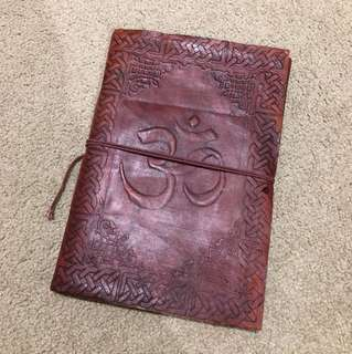 Leather bound handmade journal