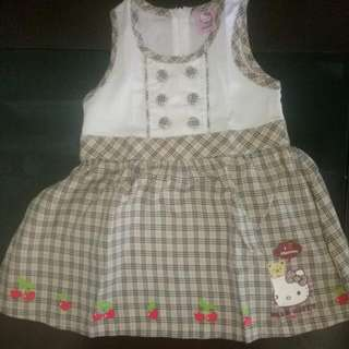 Dress Bayi Hello Kitty