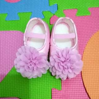Pink doll shoes for baby girl