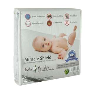 Bebe bamboo miracle shield   Bamboo Quilted Waterproof Cot Mattress Protector