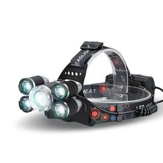 CREE T6 LED Headlamp - 2800 Lumen, 3 Cree LEDs, 5Light Modes, Adjustable Head Strap, Zoom Function (CVAIA-LT423)