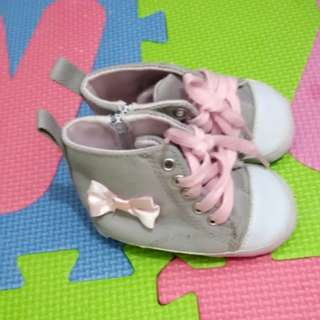 Converse style gray pink for baby girl 0~6months