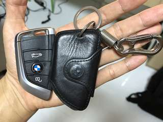 BMW Car Key Leather Case and Keychain