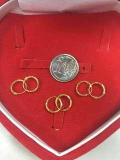 916 Gold Loops Earrings