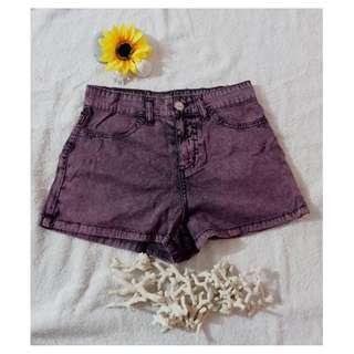 High waist petite shorts