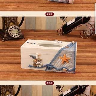 MEDITARREANEAN TISSUE BOX SEAGULL STYLE