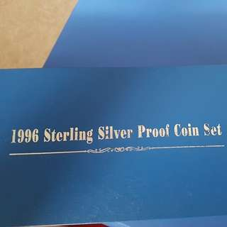 1996 Sterling Sliver Proof Coin Set
