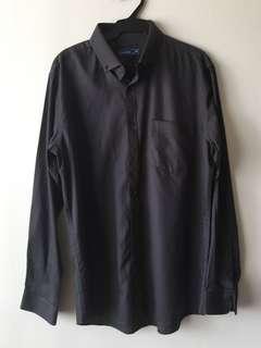 Men's Sahara black long sleeves polo