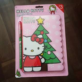 Hello Kitty Diecut Diary with Pen