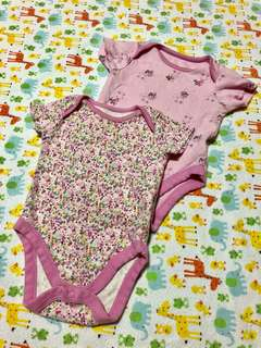 Mothercare Baby Girl Onesies -set of 2 (3M)