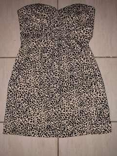 Animal print Tube Dress