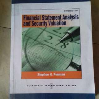 Buku Financial Statement Anlysis And Security  Valuation, Fifth Edition, 2013