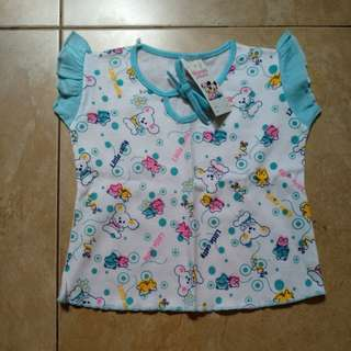 baju bayi biru little catty