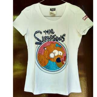 Preloved T-Shirt D&G Simpsons