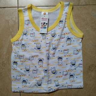 singlet / kaos kutungan bayi tom tom clubs kuning putih