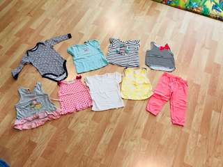 Branded baby girl clothes clearance - carters, gingersnaps, Uniqlo,  Fox, poney