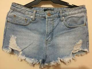 FOREVER 21: Ripped shorts (size 28)
