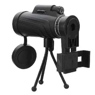 40X60 HD Zoom Lens Two Types Waterproof Monocular Telescope + Tripod + Clip for Mobile Phones for Samsung for iPhone Outdoors