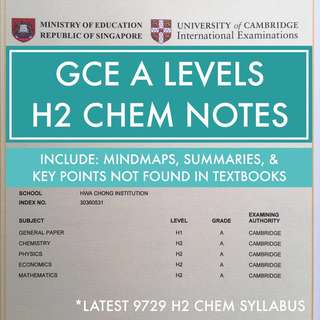 H2 CHEM (A LEVELS) NOTES: 6 PARTS