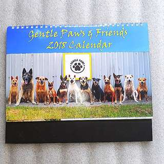[BLESSED IF PURCHASED ABOVE $28] CALENDAR - Gentle Paws & Friends 2018 Calendar