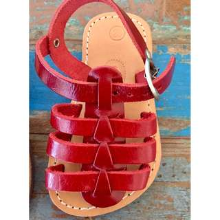 Beautiful Real Leather Red Sandal size 20 from European brand Theluto NEW and Unused